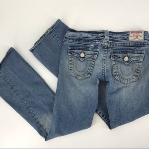 True Religion Denim Blue Jeans Flare Light Wash
